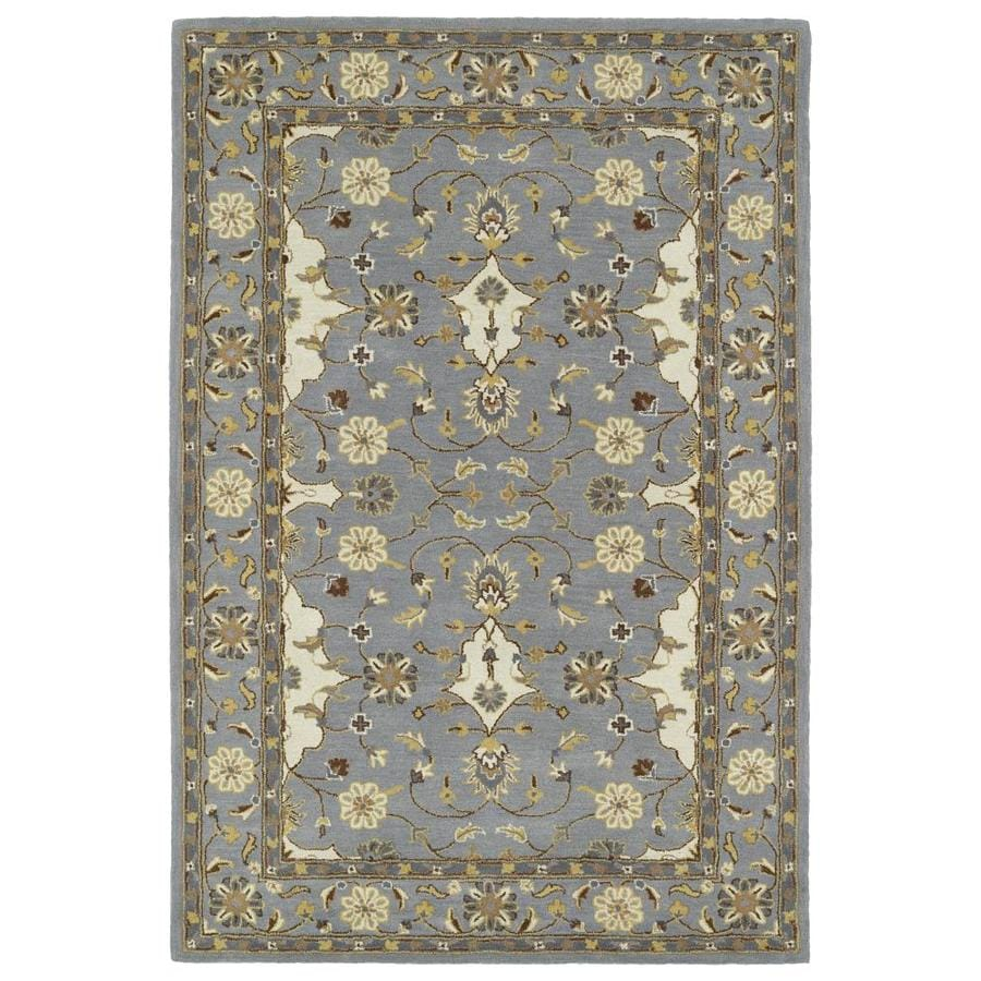 Kaleen Middleton Grey Indoor Handcrafted Oriental Area Rug (Common: 9 x 12; Actual: 9-ft W x 12-ft L)