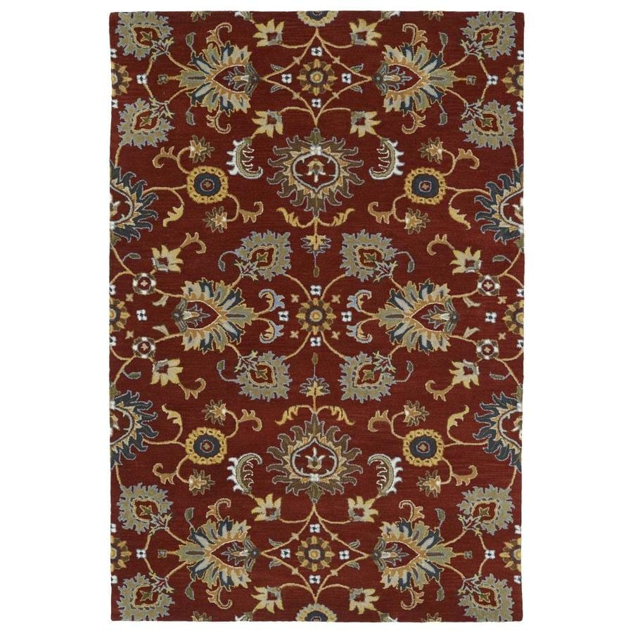 Kaleen Middleton Red Indoor Handcrafted Oriental Throw Rug (Common: 2 x 3; Actual: 2-ft W x 3-ft L)