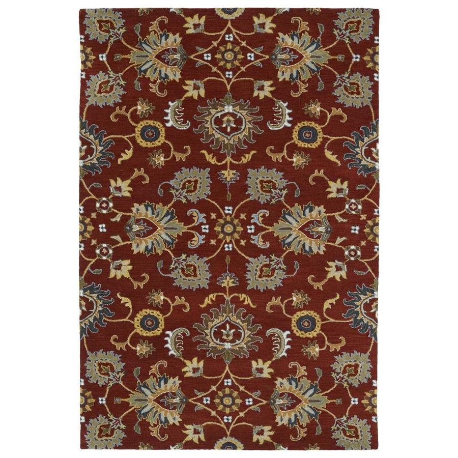 Kaleen Middleton Red Rectangular Indoor Handcrafted Oriental Area Rug (Common: 5 x 8; Actual: 5-ft W x 7.75-ft L)