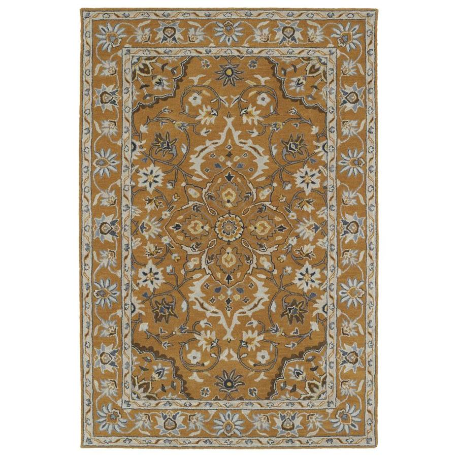 Kaleen Middleton Terracotta Rectangular Indoor Handcrafted Oriental Area Rug (Common: 5 x 8; Actual: 5-ft W x 7.75-ft L)