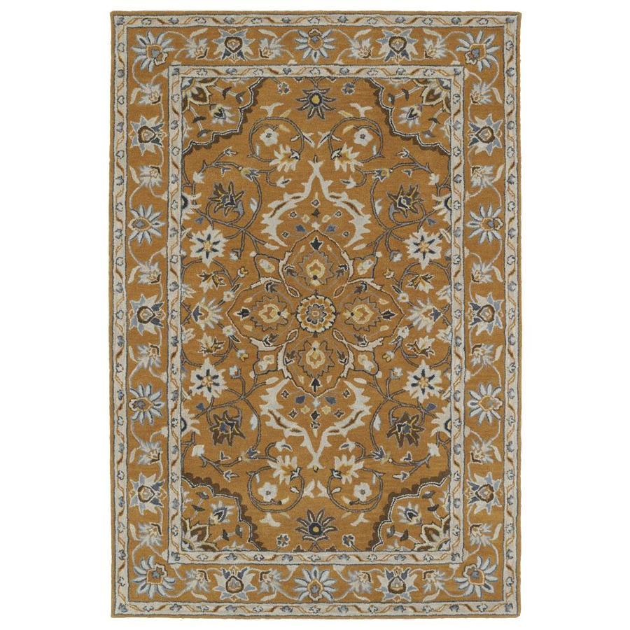Kaleen Middleton Terracotta Rectangular Indoor Handcrafted Oriental Area Rug (Common: 9 x 12; Actual: 9-ft W x 12-ft L)