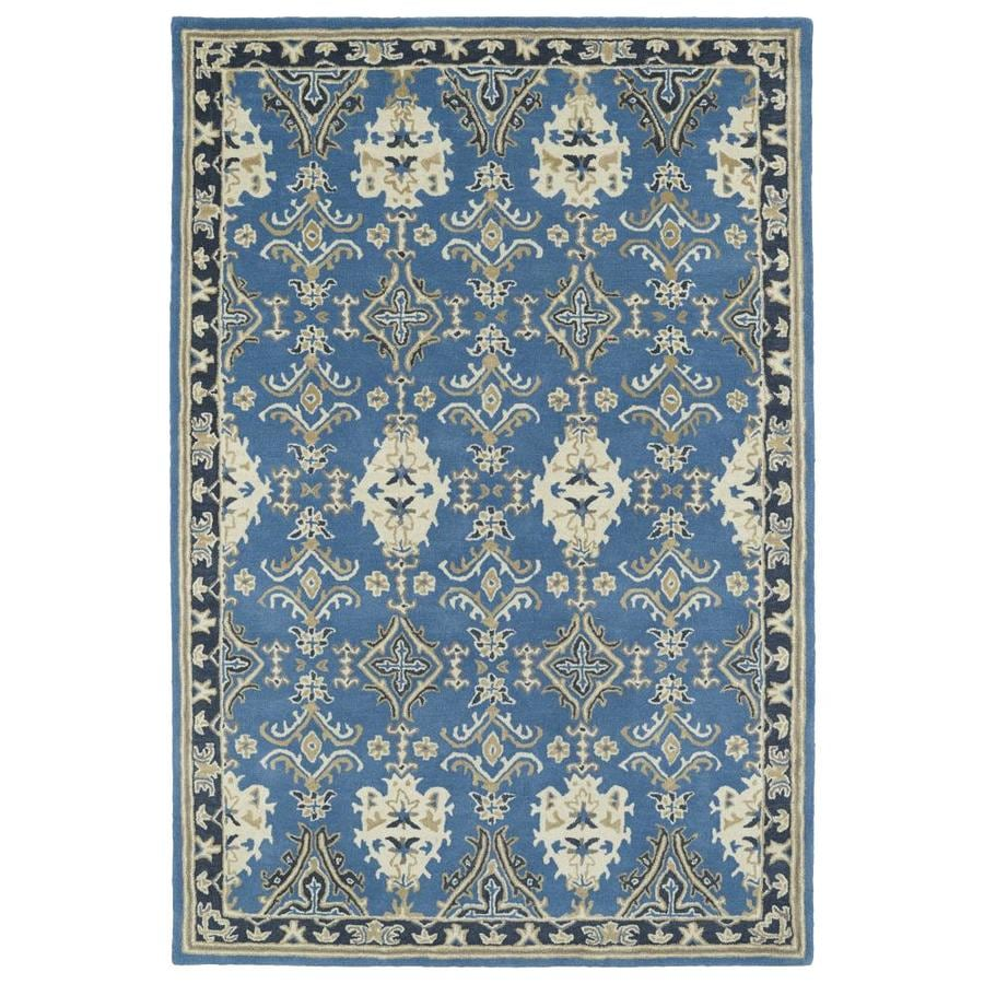Kaleen Middleton Blue Rectangular Indoor Handcrafted Oriental Throw Rug (Common: 3 x 5; Actual: 3-ft W x 5-ft L)