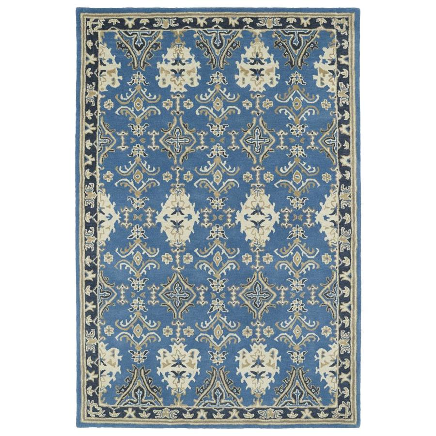 Kaleen Middleton Blue Rectangular Indoor Handcrafted Oriental Area Rug (Common: 5 x 8; Actual: 5-ft W x 7.75-ft L)