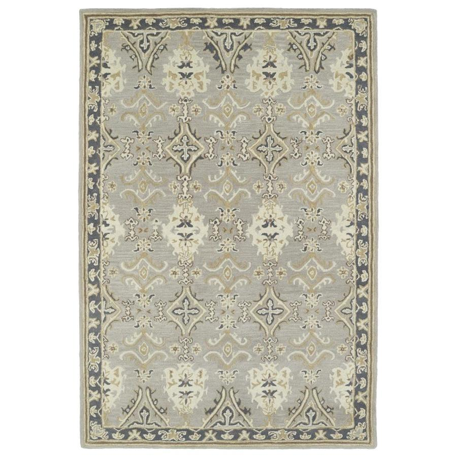 Kaleen Middleton Grey Rectangular Indoor Handcrafted Oriental Area Rug (Common: 8 x 10; Actual: 8-ft W x 10-ft L)