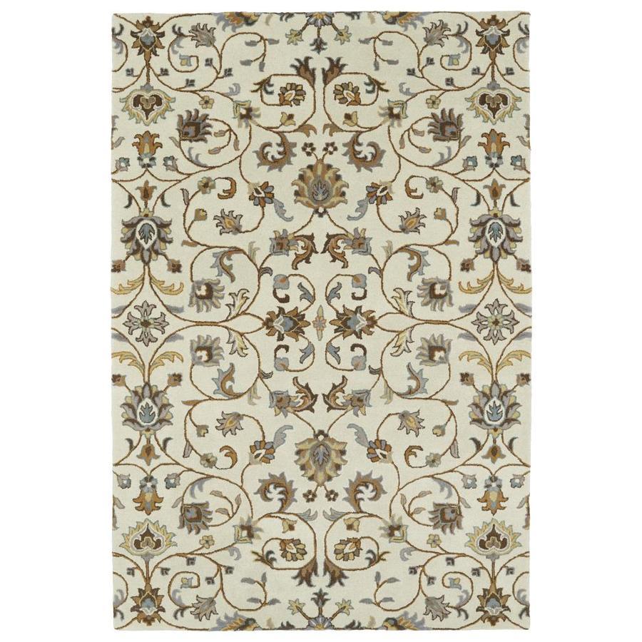 Kaleen Middleton Linen Rectangular Indoor Handcrafted Oriental Throw Rug (Common: 3 x 5; Actual: 3-ft W x 5-ft L)