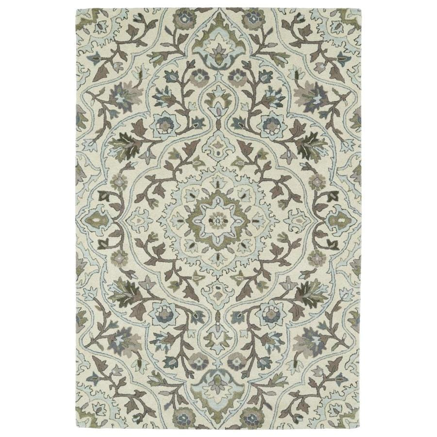 Kaleen Middleton Ivory Indoor Handcrafted Oriental Area Rug (Common: 5 x 8; Actual: 5-ft W x 7.75-ft L)