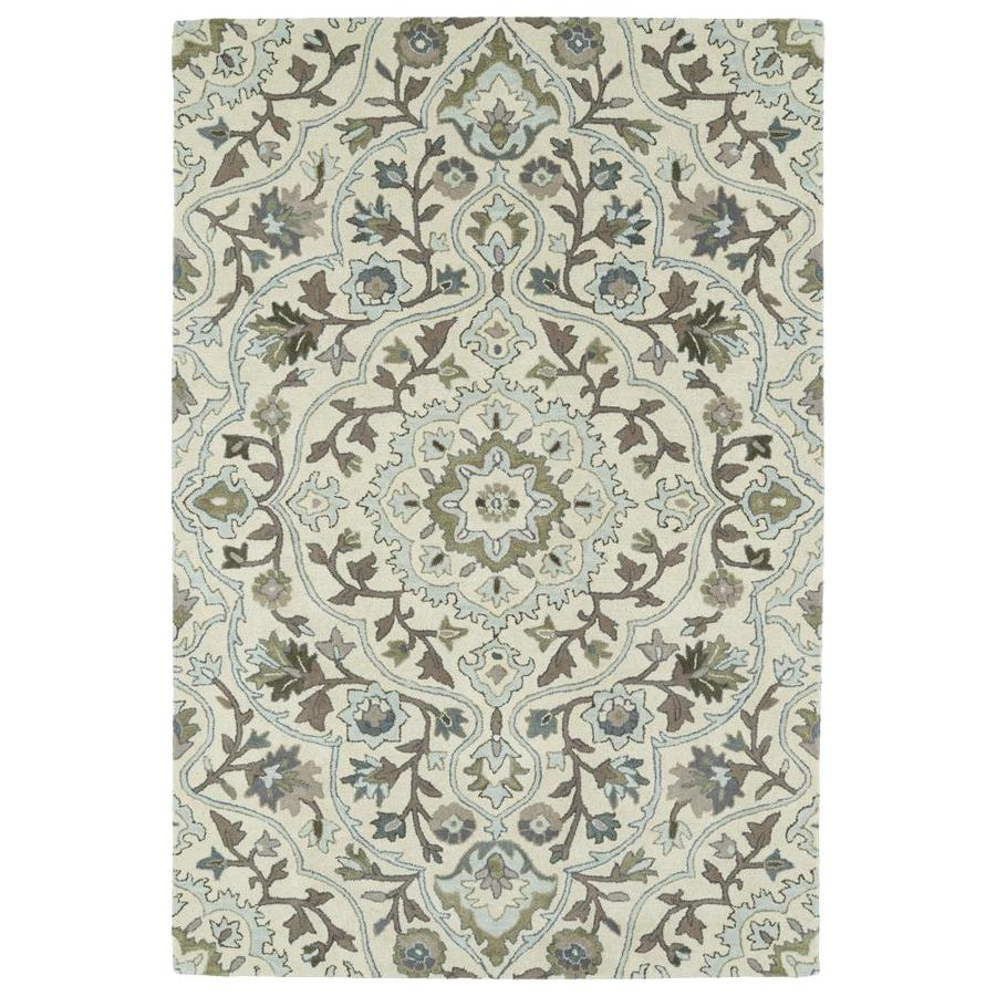 Kaleen Middleton Ivory Rectangular Indoor Handcrafted Oriental Area Rug (Common: 8 x 10; Actual: 8-ft W x 10-ft L)