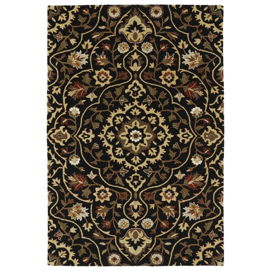 Kaleen Middleton Black Rectangular Indoor Handcrafted Oriental Area Rug (Common: 9 x 12; Actual: 9-ft W x 12-ft L)