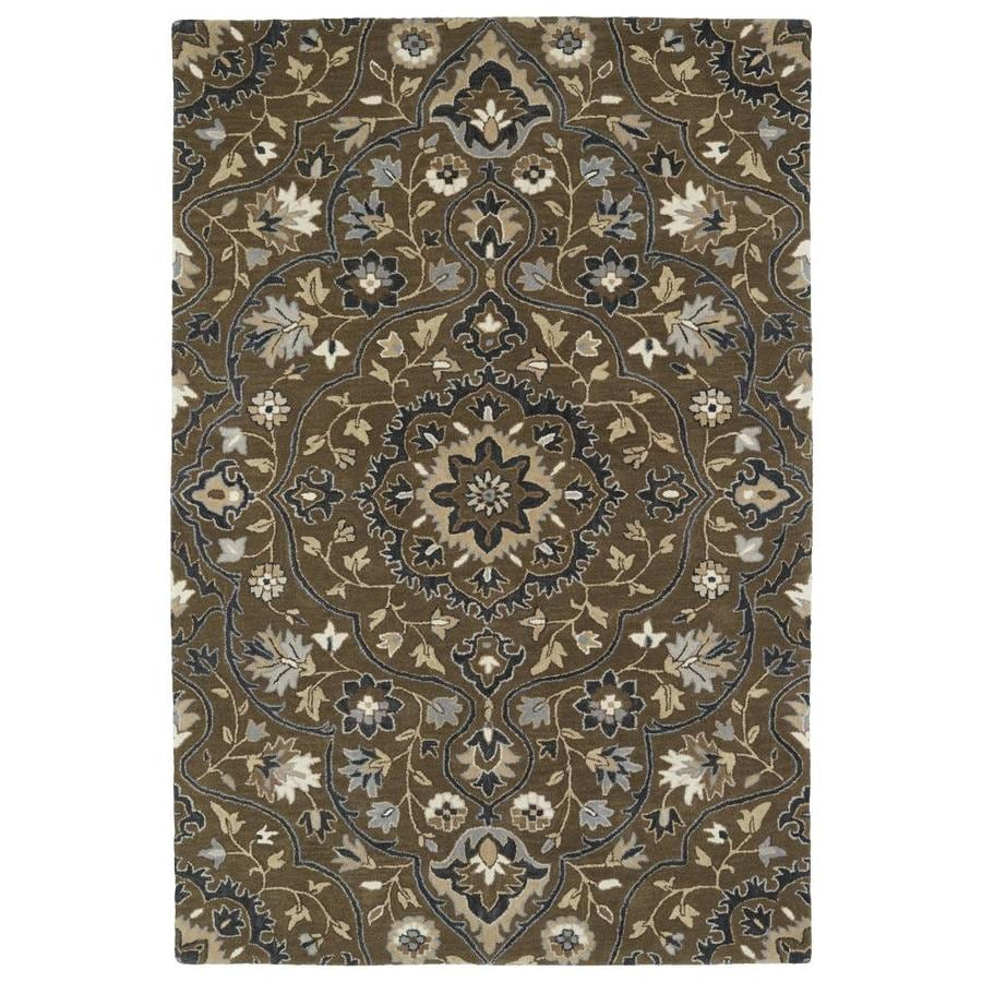 Kaleen Middleton Chocolate Rectangular Indoor Handcrafted Oriental Throw Rug (Common: 3 x 5; Actual: 3-ft W x 5-ft L)