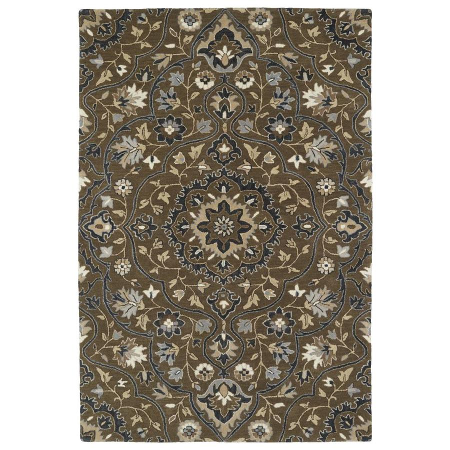 Kaleen Middleton Chocolate Rectangular Indoor Handcrafted Oriental Area Rug (Common: 8 x 10; Actual: 8-ft W x 10-ft L)