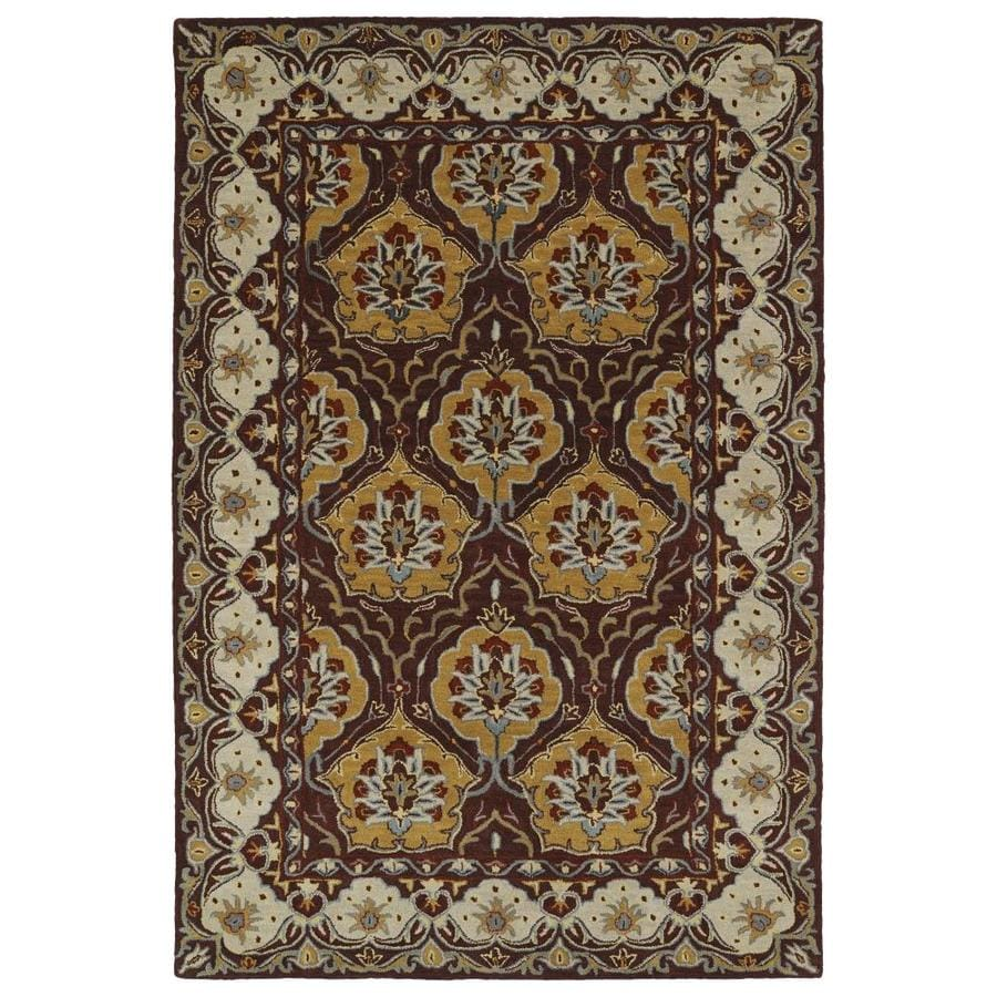 Kaleen Middleton Wine Rectangular Indoor Handcrafted Oriental Throw Rug (Common: 3 x 5; Actual: 3-ft W x 5-ft L)