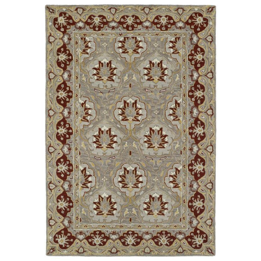 Kaleen Middleton Grey Rectangular Indoor Handcrafted Oriental Area Rug (Common: 8 x 10; Actual: 8-ft W x 10-ft L)