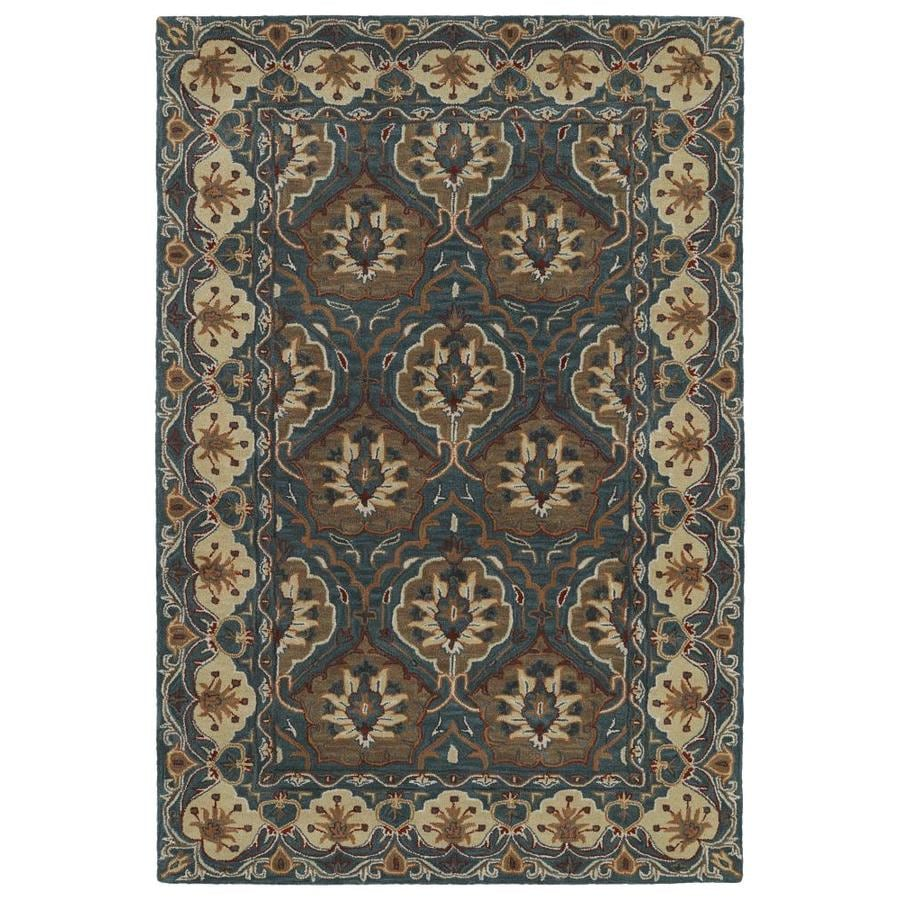 Kaleen Middleton Teal Indoor Handcrafted Oriental Area Rug (Common: 8 x 10; Actual: 8-ft W x 10-ft L)
