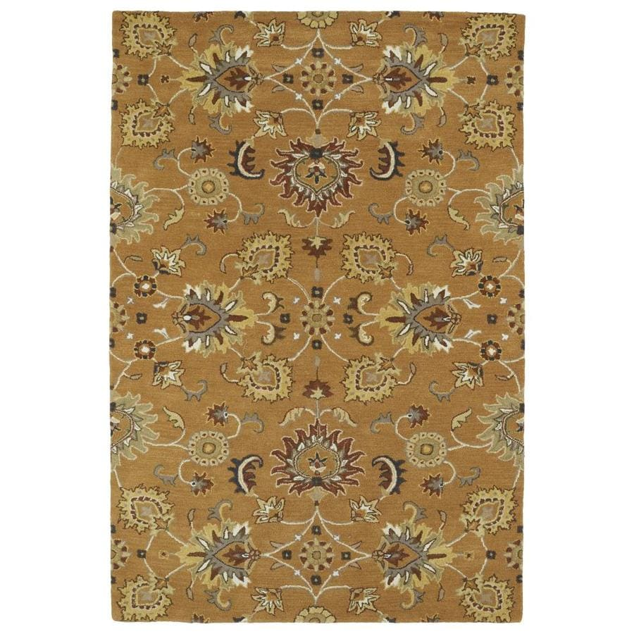 Kaleen Middleton Copper Indoor Handcrafted Oriental Area Rug (Common: 5 x 8; Actual: 5-ft W x 7.75-ft L)