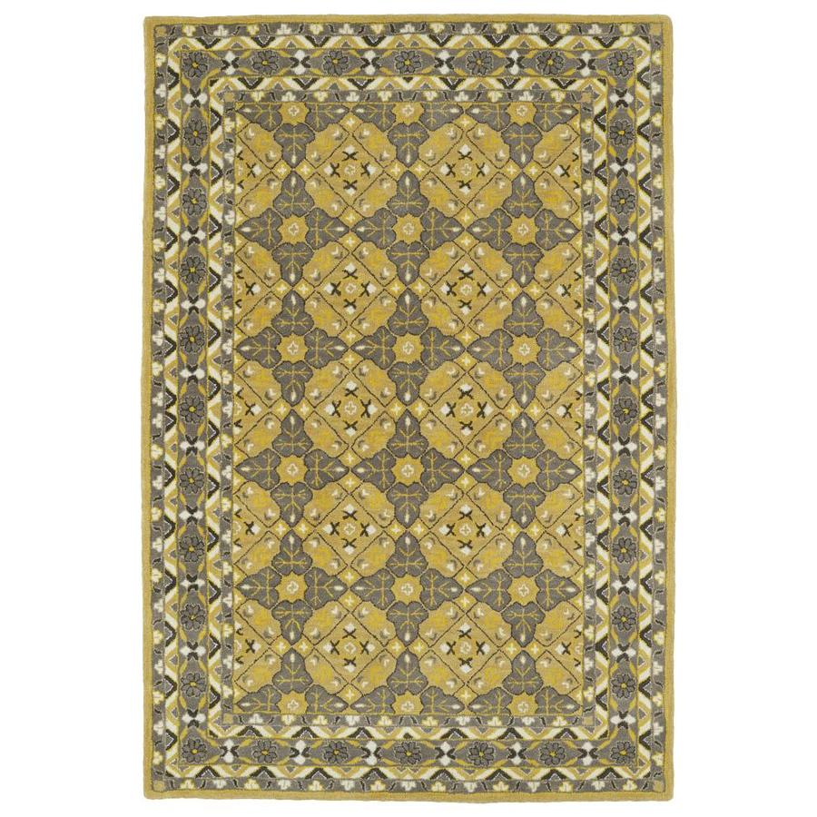 Kaleen Middleton Gold Indoor Handcrafted Oriental Throw Rug (Common: 3 x 5; Actual: 3-ft W x 5-ft L)