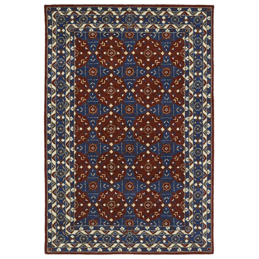 Kaleen Middleton Red Indoor Handcrafted Oriental Throw Rug (Common: 3 x 5; Actual: 3-ft W x 5-ft L)