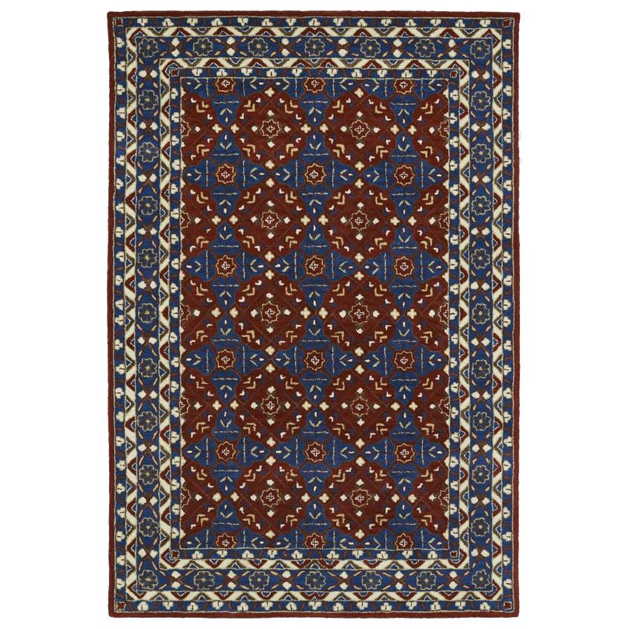 Kaleen Middleton Red Rectangular Indoor Handcrafted Oriental Area Rug (Common: 8 x 10; Actual: 8-ft W x 10-ft L)