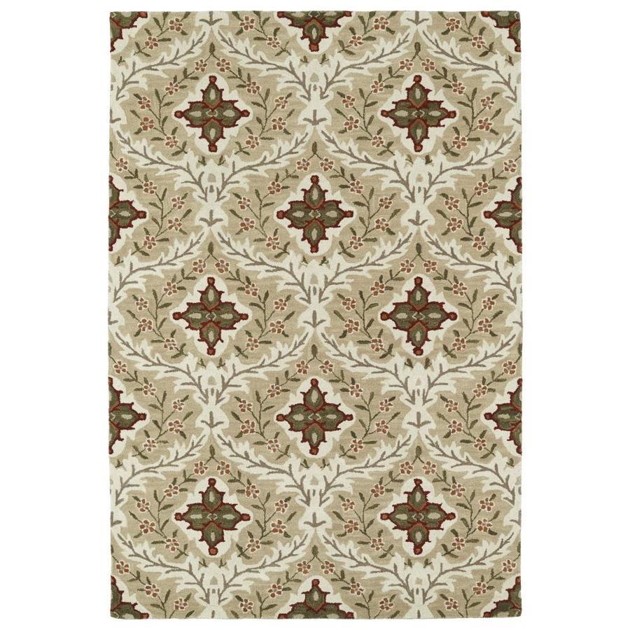 Kaleen Middleton Sand Rectangular Indoor Handcrafted Oriental Throw Rug (Common: 3 x 5; Actual: 3-ft W x 5-ft L)