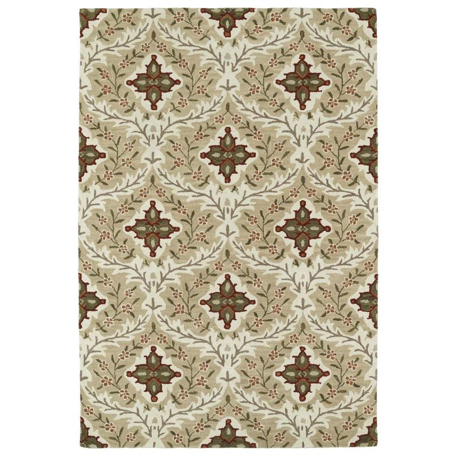 Kaleen Middleton Sand Rectangular Indoor Handcrafted Oriental Area Rug (Common: 5 x 8; Actual: 5-ft W x 7.75-ft L)