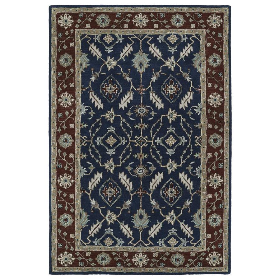 Kaleen Middleton Navy Indoor Handcrafted Oriental Throw Rug (Common: 3 x 5; Actual: 3-ft W x 5-ft L)