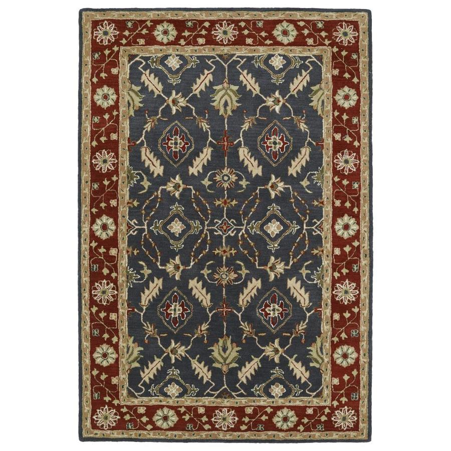 Kaleen Middleton Charcoal Rectangular Indoor Handcrafted Oriental Area Rug (Common: 9 x 12; Actual: 9-ft W x 12-ft L)