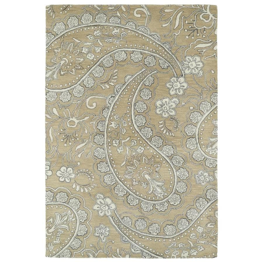 Kaleen Melange Camel Indoor Handcrafted Oriental Area Rug (Common: 5 x 8; Actual: 5-ft W x 7.75-ft L)