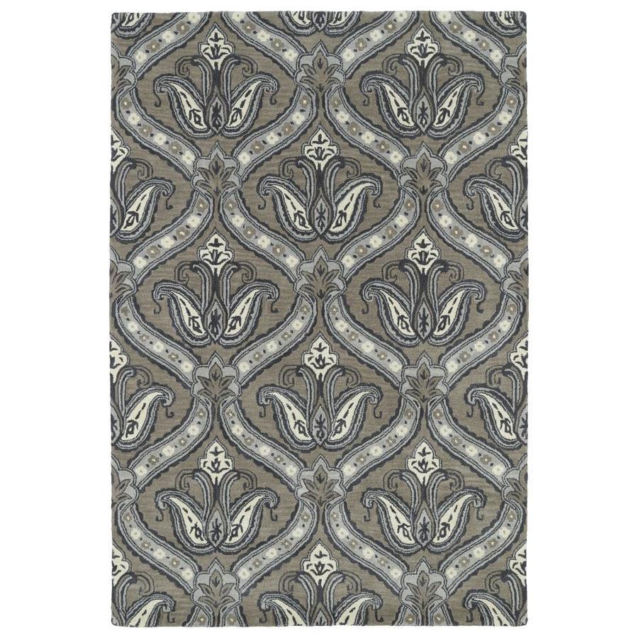 Kaleen Melange Taupe Rectangular Indoor Handcrafted Oriental Area Rug (Common: 5 x 8; Actual: 5-ft W x 7.75-ft L)