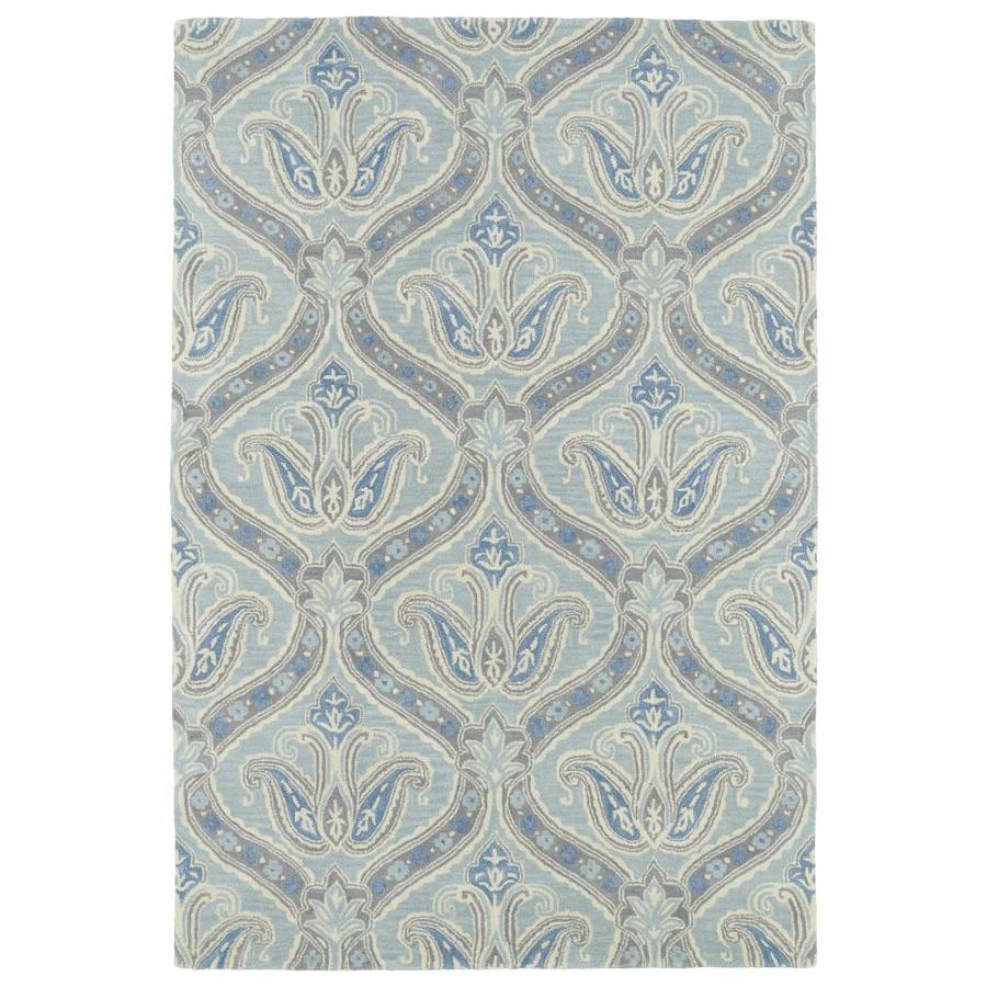 Kaleen Melange Spa Indoor Handcrafted Oriental Throw Rug (Common: 2 x 3; Actual: 2-ft W x 3-ft L)
