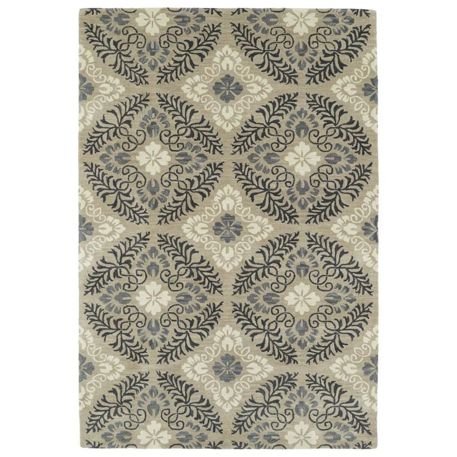 Kaleen Melange Mushroom Rectangular Indoor Handcrafted Oriental Throw Rug (Common: 3 x 5; Actual: 3-ft W x 5-ft L)