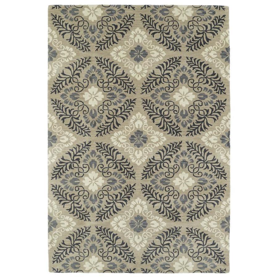 Kaleen Melange Mushroom Rectangular Indoor Handcrafted Oriental Area Rug (Common: 5 x 8; Actual: 5-ft W x 7.75-ft L)