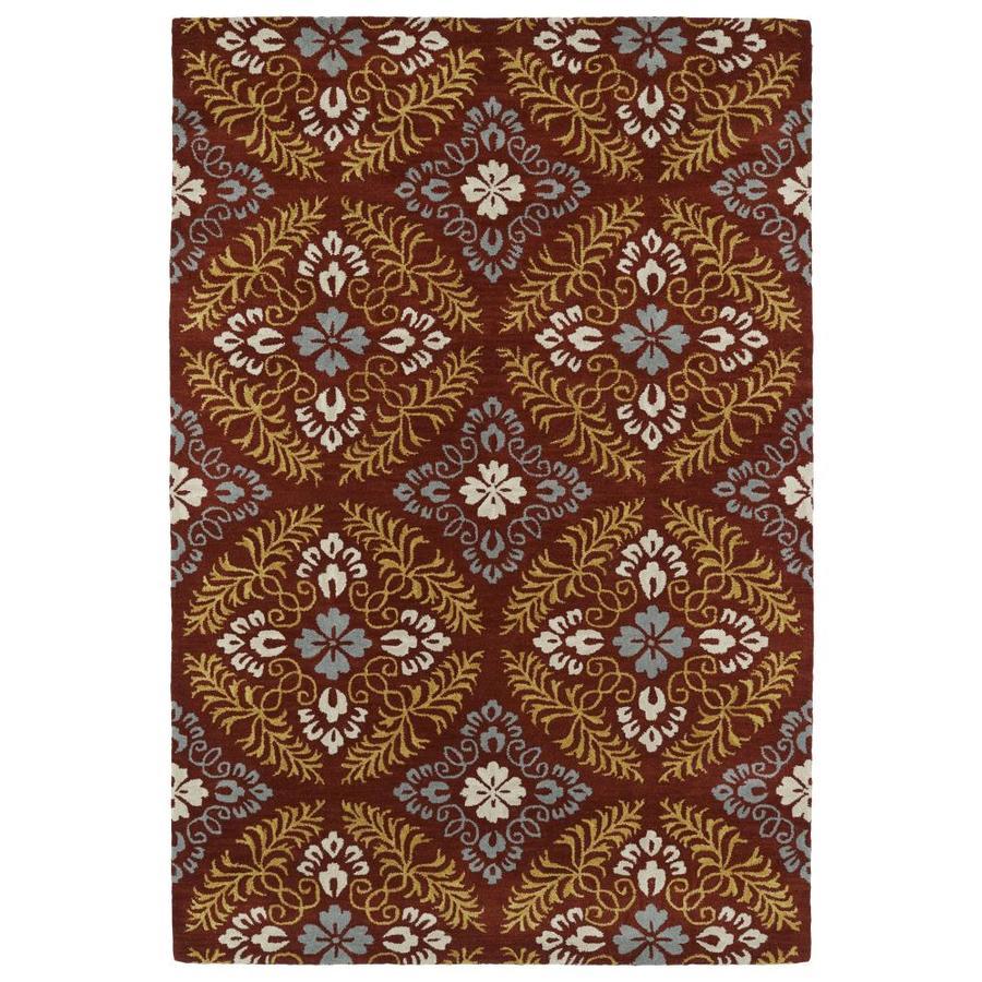 Kaleen Melange Red Rectangular Indoor Handcrafted Oriental Area Rug (Common: 5 x 8; Actual: 5-ft W x 7.75-ft L)