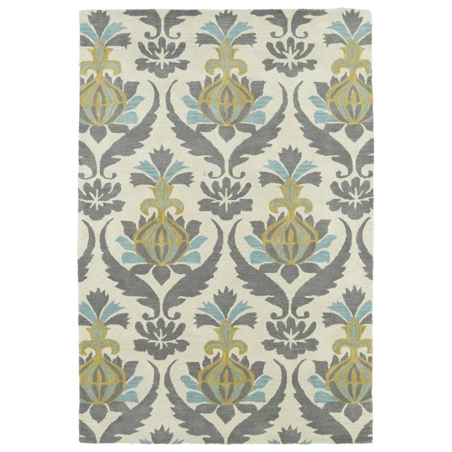 Kaleen Melange Ivory Rectangular Indoor Handcrafted Oriental Area Rug (Common: 8 x 10; Actual: 8-ft W x 10-ft L)