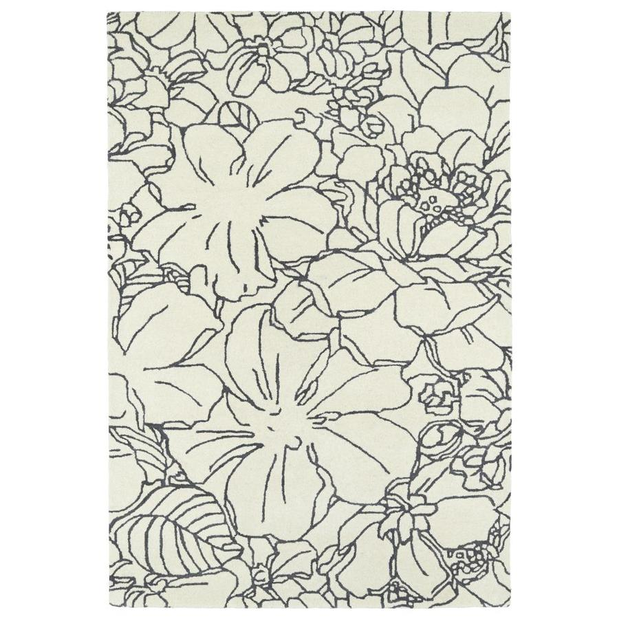 Kaleen Melange Ivory Rectangular Indoor Handcrafted Oriental Throw Rug (Common: 2 x 3; Actual: 2-ft W x 3-ft L)