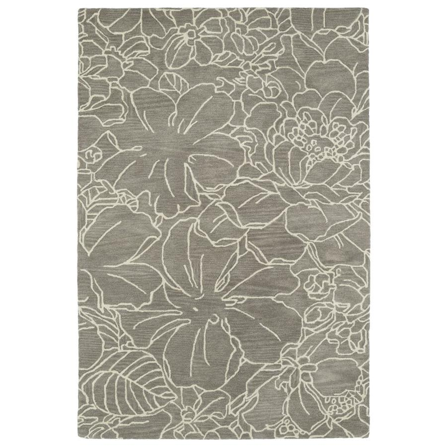 Kaleen Melange Taupe Rectangular Indoor Handcrafted Oriental Throw Rug (Common: 3 x 5; Actual: 3-ft W x 5-ft L)