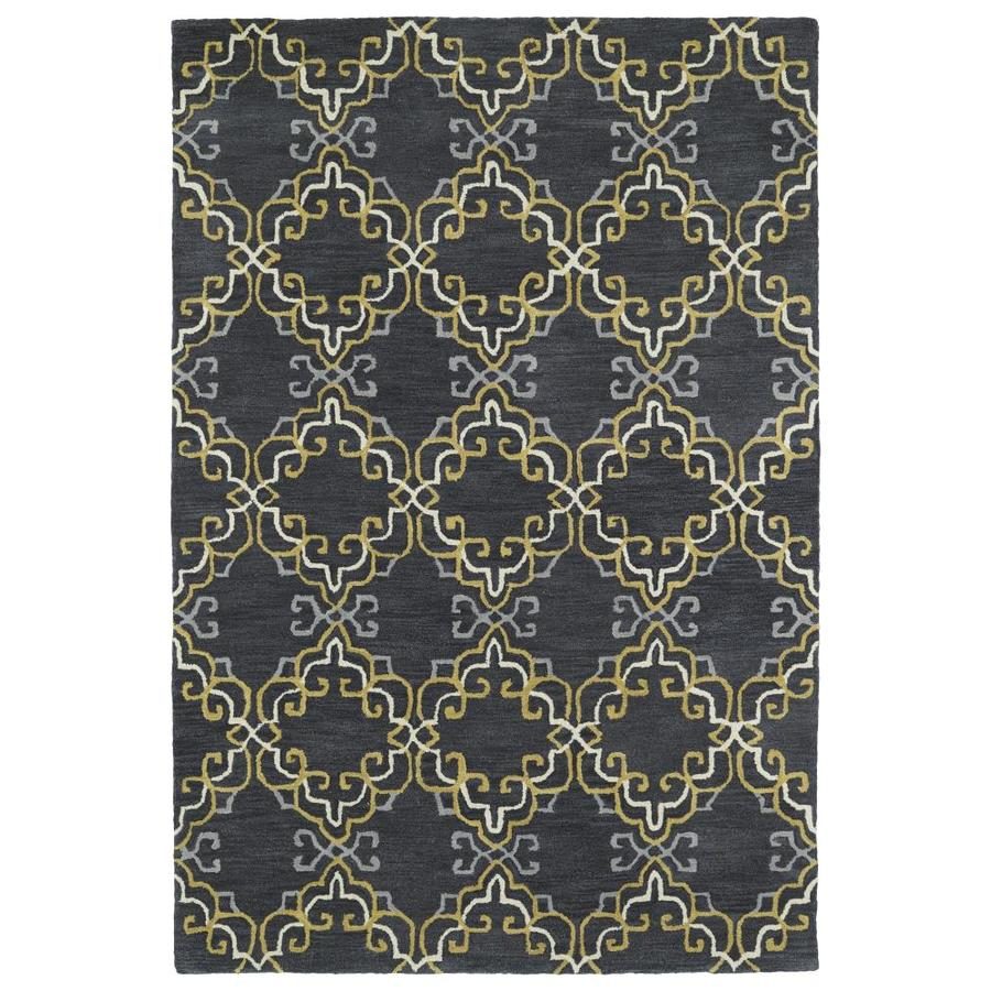 Kaleen Melange Graphite Indoor Handcrafted Oriental Area Rug (Common: 8 x 10; Actual: 8-ft W x 10-ft L)