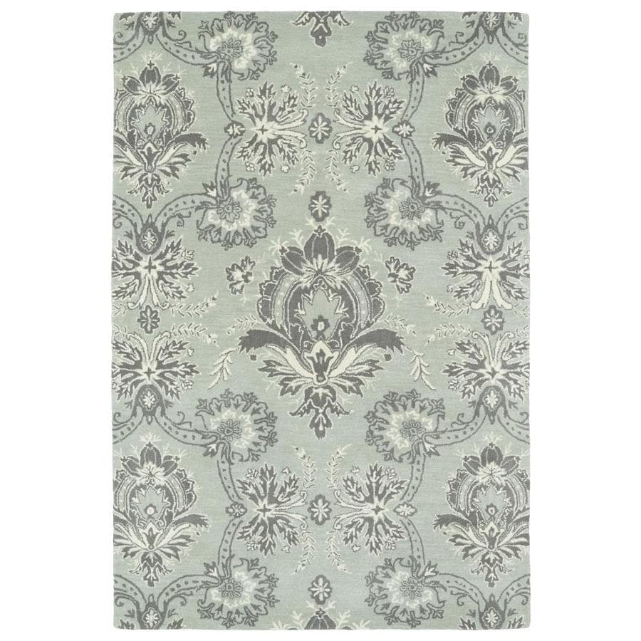 Kaleen Melange Pewter Rectangular Indoor Handcrafted Oriental Area Rug (Common: 5 x 8; Actual: 5-ft W x 7.75-ft L)