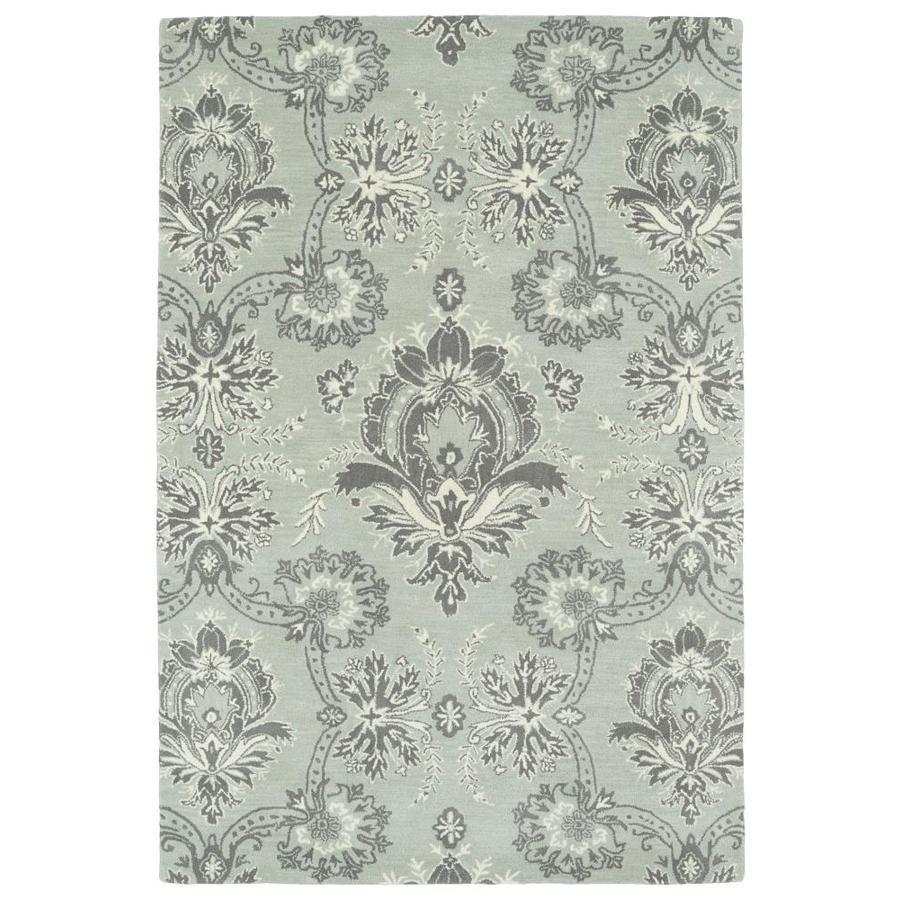 Kaleen Melange Pewter Indoor Handcrafted Oriental Area Rug (Common: 9 x 12; Actual: 9-ft W x 12-ft L)