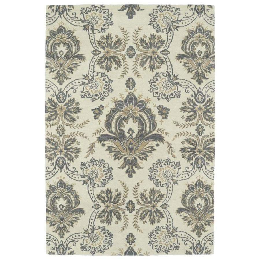 Kaleen Melange Ivory Rectangular Indoor Handcrafted Oriental Area Rug (Common: 5 x 8; Actual: 5-ft W x 7.75-ft L)