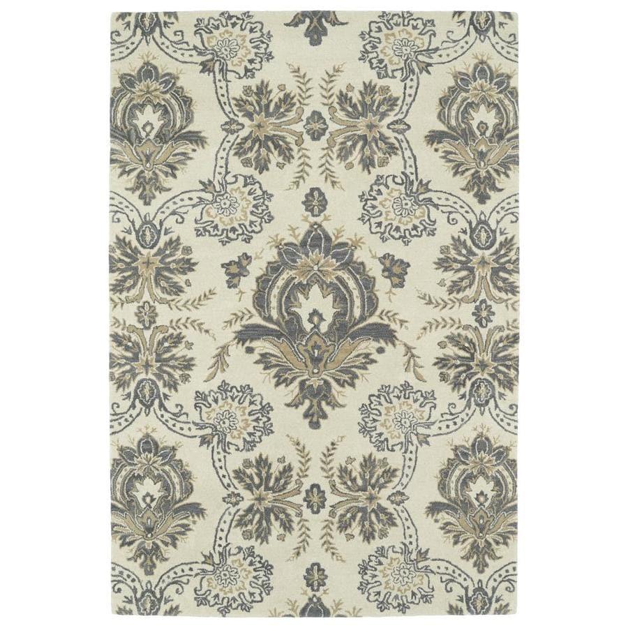 Kaleen Melange Ivory Indoor Handcrafted Oriental Area Rug (Common: 8 x 10; Actual: 8-ft W x 10-ft L)