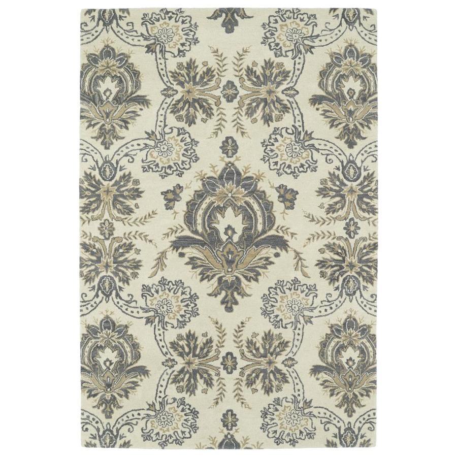 Kaleen Melange Ivory Rectangular Indoor Handcrafted Oriental Area Rug (Common: 9 x 12; Actual: 9-ft W x 12-ft L)