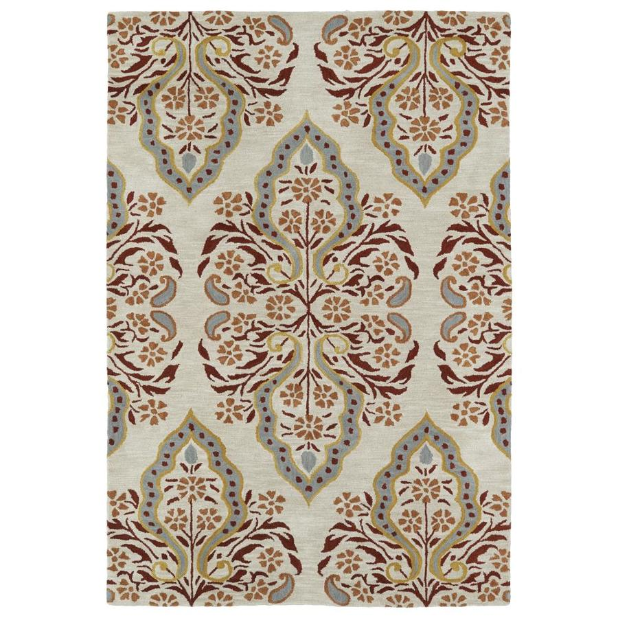 Kaleen Melange Mushroom Rectangular Indoor Handcrafted Oriental Area Rug (Common: 8 x 10; Actual: 8-ft W x 10-ft L)