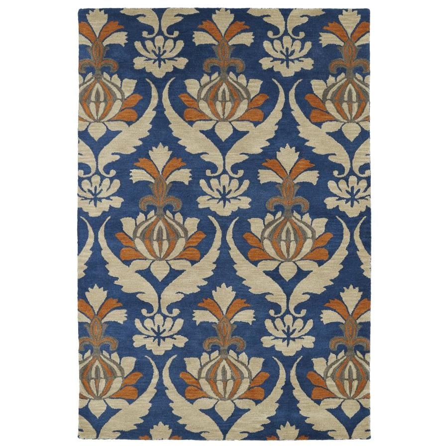 Kaleen Melange Blue Rectangular Indoor Handcrafted Oriental Area Rug (Common: 8 x 10; Actual: 8-ft W x 10-ft L)