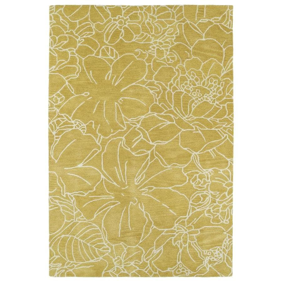 Kaleen Melange Yellow Rectangular Indoor Handcrafted Oriental Area Rug (Common: 5 x 8; Actual: 5-ft W x 7.75-ft L)