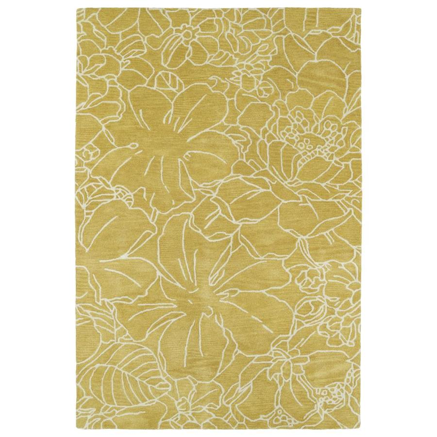 Kaleen Melange Yellow Rectangular Indoor Handcrafted Oriental Area Rug (Common: 8 x 10; Actual: 8-ft W x 10-ft L)