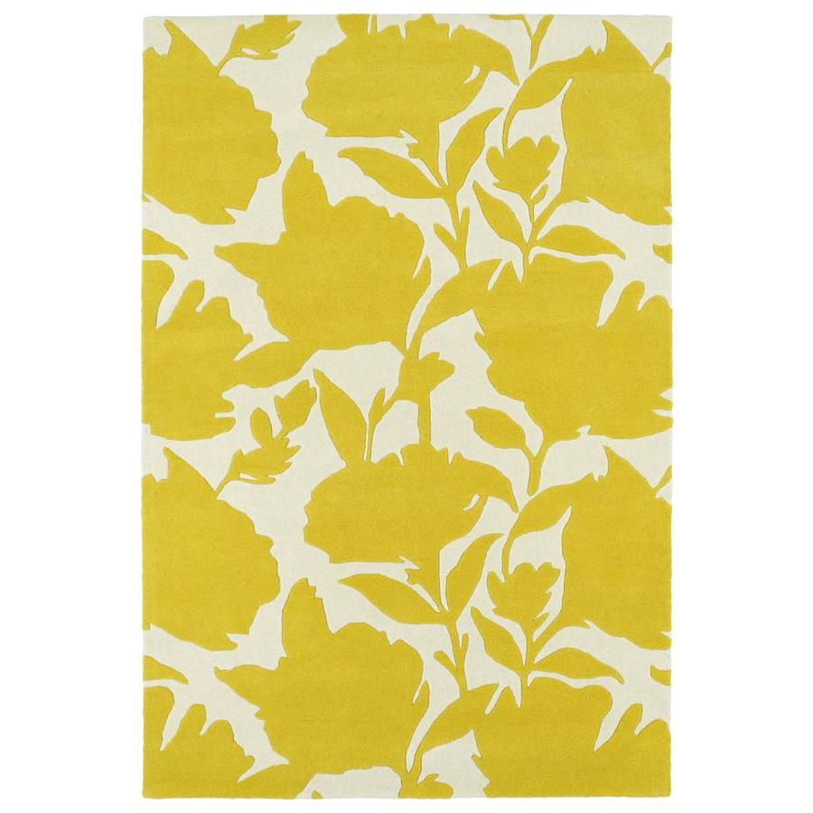 Kaleen Melange Yellow Indoor Handcrafted Oriental Throw Rug (Common: 3 x 5; Actual: 3-ft W x 5-ft L)
