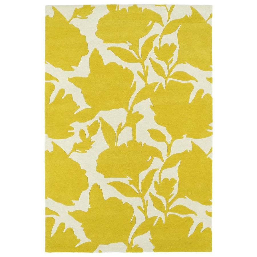 Kaleen Melange Yellow Indoor Handcrafted Oriental Area Rug (Common: 8 x 10; Actual: 8-ft W x 10-ft L)