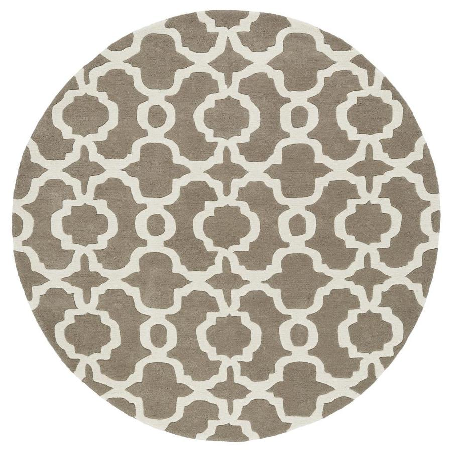 Kaleen Revolution Light Brown Round Indoor Handcrafted Novelty Area Rug (Common: 4 x 4; Actual: 3.75-ft W x 3.75-ft L x 1.88-ft dia)