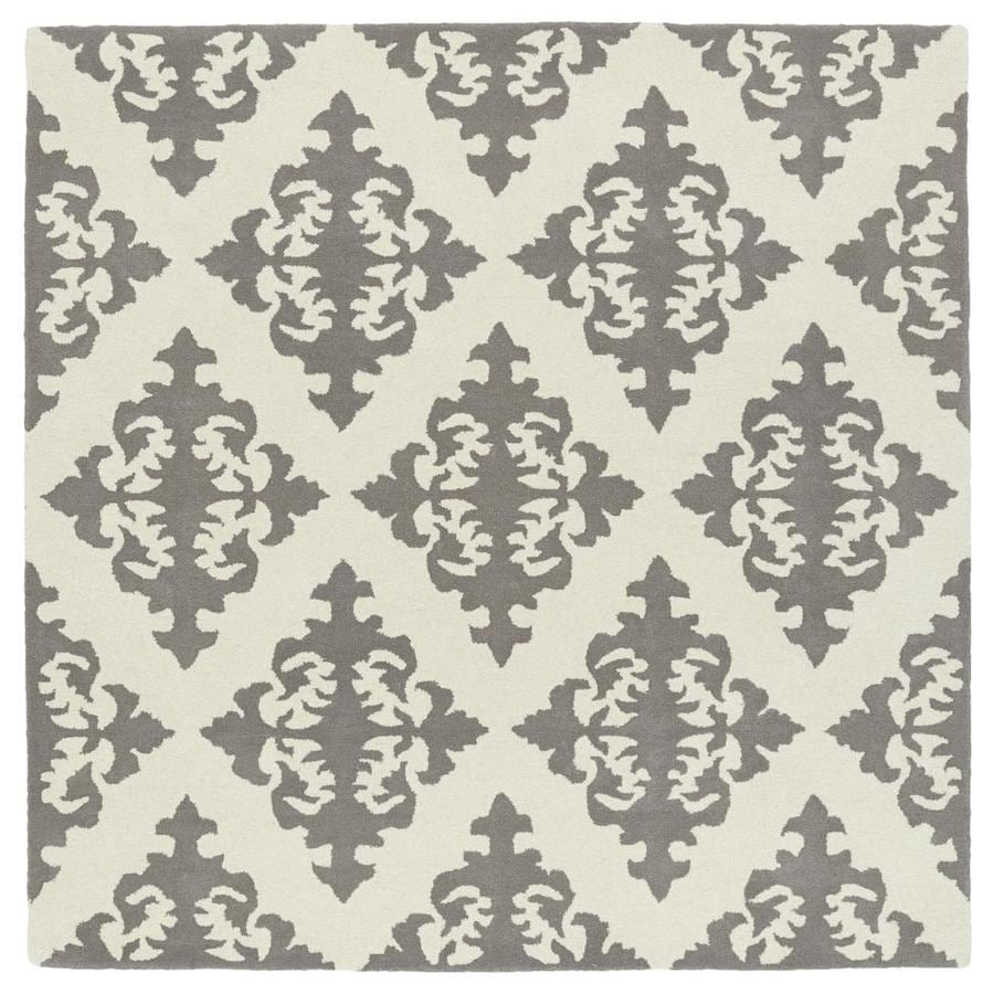 Kaleen Evolution Grey Square Indoor Handcrafted Area Rug (Common: 10 x 10; Actual: 9.75-ft W x 9.75-ft L)