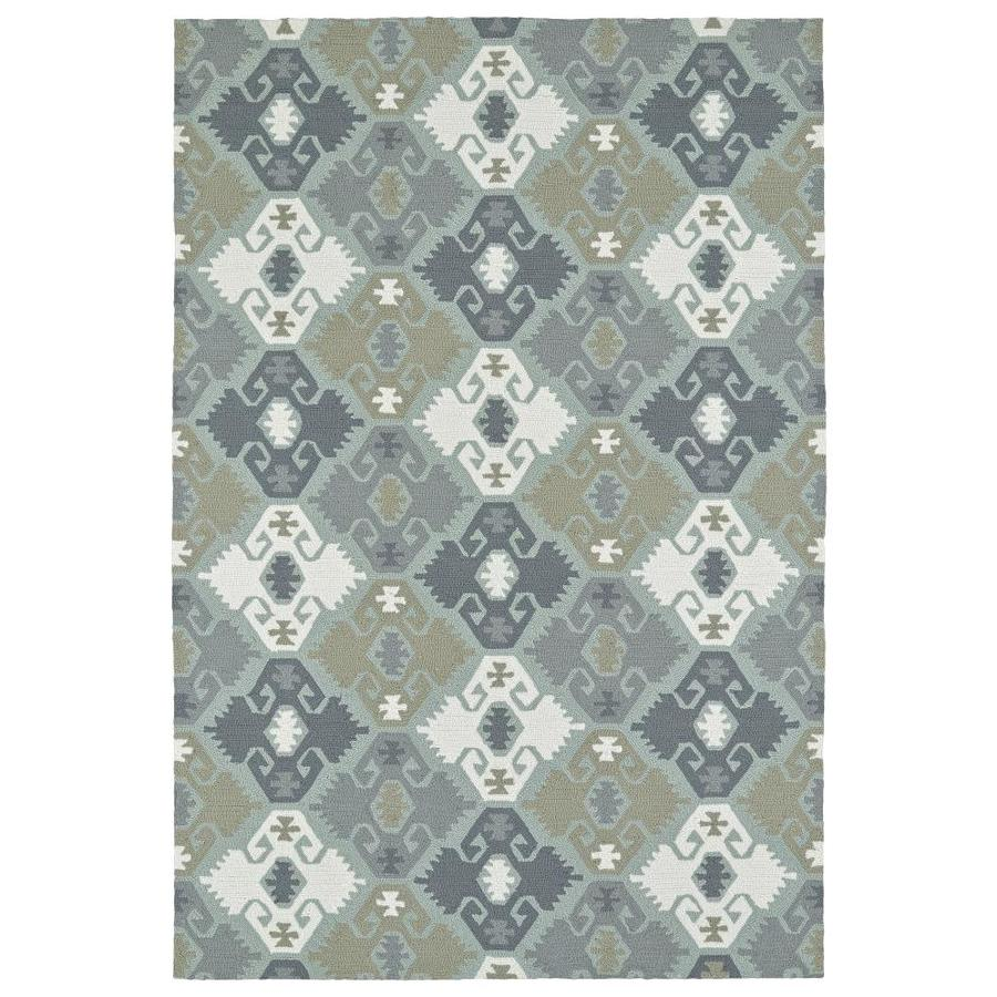 Kaleen Habitat Pewter Green Indoor/Outdoor Handcrafted Novelty Area Rug (Common: 9 x 12; Actual: 9-ft W x 12-ft L)