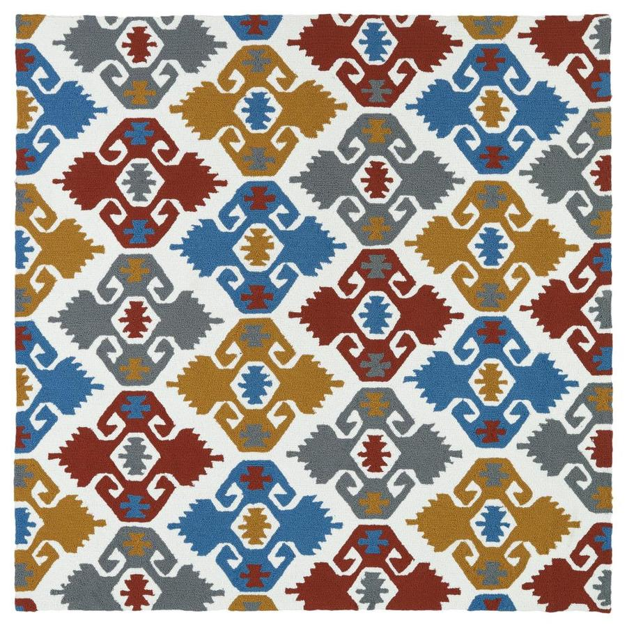 Kaleen Habitat Square Indoor/Outdoor Handcrafted Novelty Area Rug (Common: 6 x 6; Actual: 5.75-ft W x 5.75-ft L)